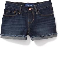 Short en denim coupé pour fille