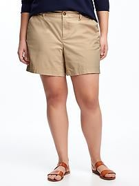 """Relaxed Mid-Rise Plus-Size Everyday Shorts (7"""")"""