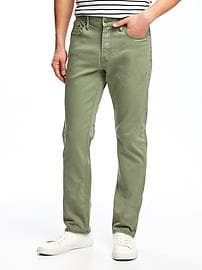 Slim Built-In Flex Twill Five-Pocket Pants for Men