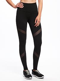 High-Rise Mesh-Panel Leggings for Women