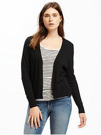 Button-Front V-Neck Cardi for Women