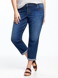 Eco-Friendly Boyfriend Skinny Plus-Size Jeans