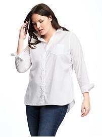 Classic Plus-Size Cotton Shirt