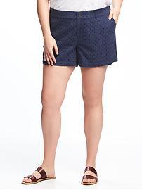 Short taille mi-haute à œillets pour taille Plus (12,5cm)
