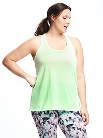 Go-Dry Cool Semi-Fitted Plus-Size Tank