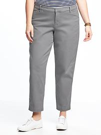 Smooth & Slim Plus-Size Pixie Chinos
