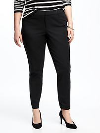 Mid-Rise Smooth & Slim Pixie Plus-Size Pants