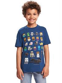 T-shirt imprimé MinecraftMC pour garçon