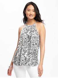Patterned High-Neck Cami for Women