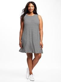 Jersey Plus-Size Swing Dress