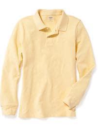 Polo d'uniforme en piqué pour garçon