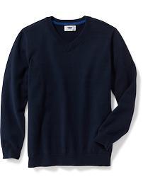 Uniform V-Neck Sweater for Boys
