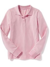 Pique Uniform Polo for Girls