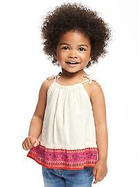 Tie-Shoulder Swing Top for Toddler