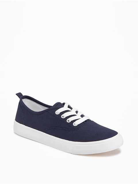 Uniform Twill Sneakers for Girls