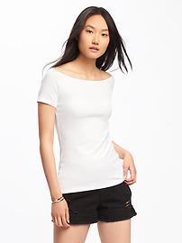 Semi-Fitted Off-the-Shoulder Top for Women