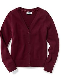 Uniform V-Neck Cardi for Girls