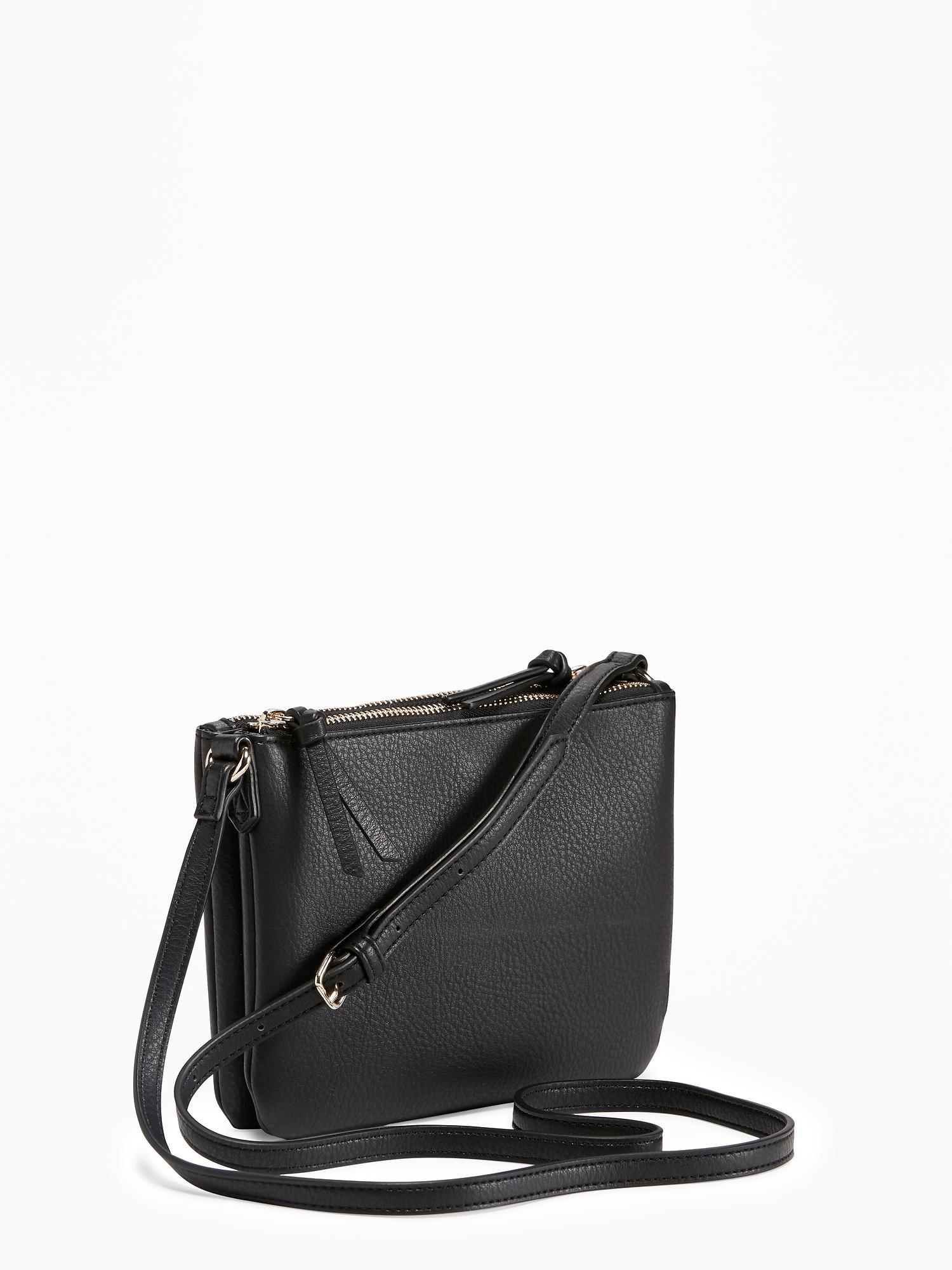 Dual-Zip Crossbody Bag for Women