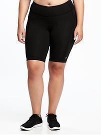 """Plus-Size Compression Bermuda Shorts (10"""")"""