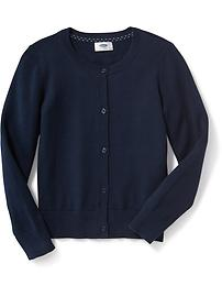 Uniform Crew-Neck Cardi for Girls