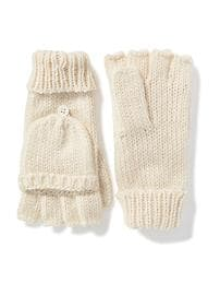 Honeycomb-Knit Convertible Gloves for Women