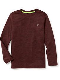 T-shirt Go-Dry décontracté à encolure ras du cou pour garçon