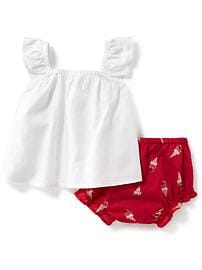 2-Piece Sleeveless Top and Bloomers Set for Baby