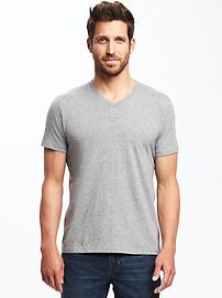 Soft-Washed Heathered V-Neck Tee for Men