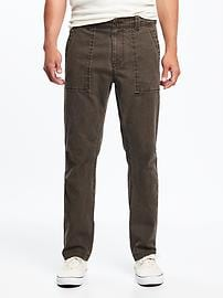 Straight Built-In Flex Canvas Utility Pants for Men