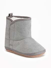 Sueded Faux-Fur Lined Boots for Baby