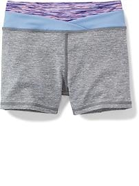Fitted High-Rise Performance Shorts for Girls