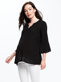 Maternity Embroidered Swing Top