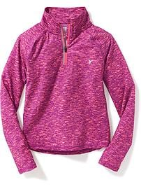 Go-Dry Reflective-Trim 1/4-Zip Pullover for Girls