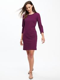 Jersey Crew-Neck Tee Dress for Women