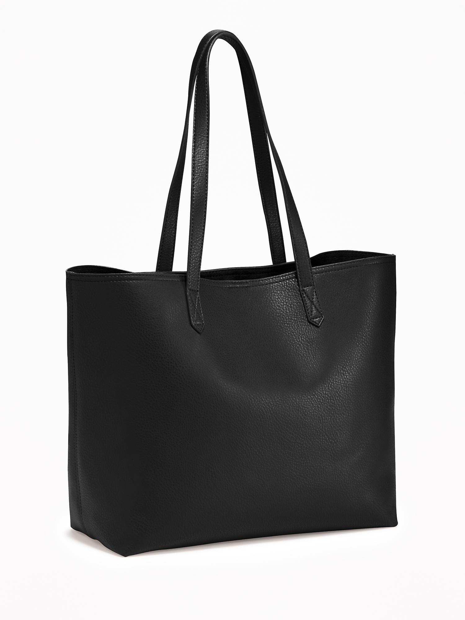 Faux-Leather Tote for Women   Old Navy 0414eaabcd