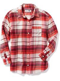 Flannel Boyfriend Shirt for Girls
