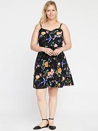 Fit & Flare Plus-Size Cami Dress