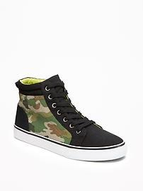 Camo Color-Block High-Tops for Boys