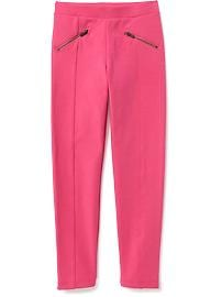 Zip-Pocket Stevie Ponte-Knit Leggings for Girls