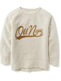 Relaxed Logo-Graphic Sweatshirt for Girls