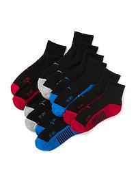 Go-Dry Quarter Crew Socks 6-Pack for Boys