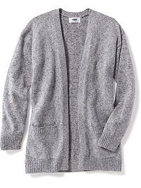 Open-Front Boyfriend Sweater for Girls