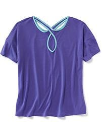 Cutout-Back Performance Tee for Girls