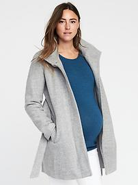 Maternity Funnel-Neck Coat