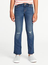 Boot-Cut Frayed-Hem Jeans for Girls