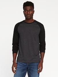 T-shirt à manches raglan au fini soyeux pour homme
