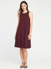 Sleeveless Jersey-Knit Swing Dress for Women
