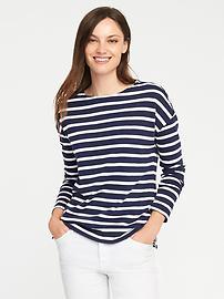 T-shirt à col bateau décontracté pour femme
