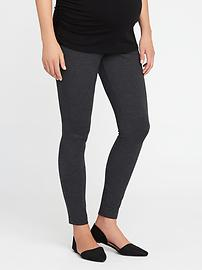 Maternity Full-Panel Heavy-Knit Jersey Leggings