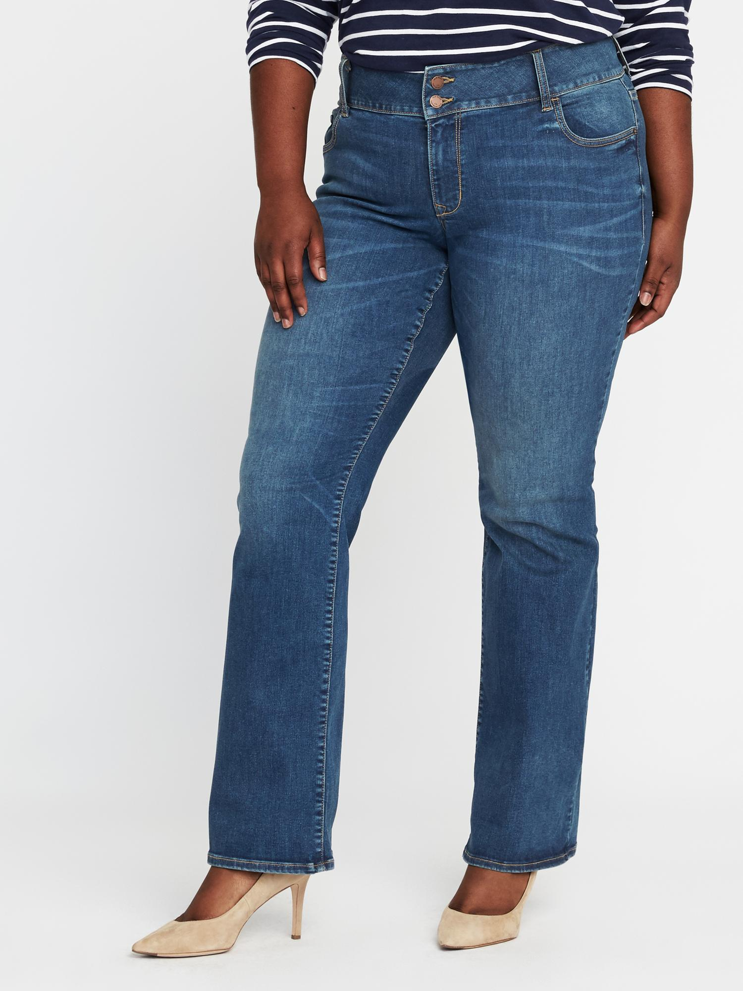 a72462ae6f6 High-Rise Built-In-Sculpt Plus-Size Rockstar Boot-Cut Jeans